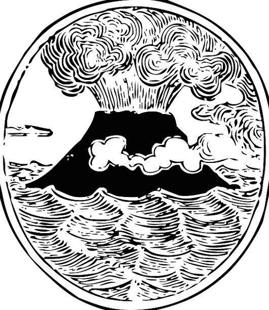 Volcano Outbreak Fume Emission Eruption Free Vecto