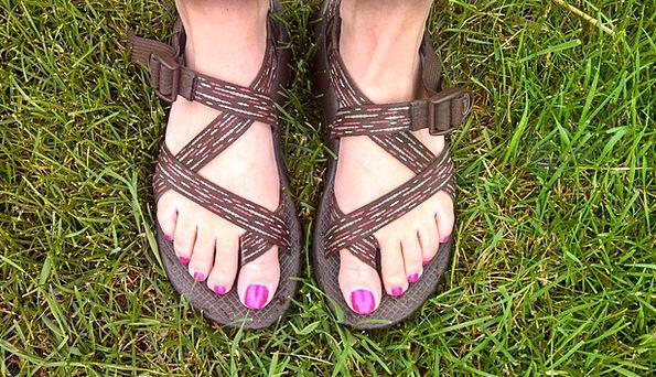 Nail Polish Pins Pink Flushed Nails Feet Bases Toe