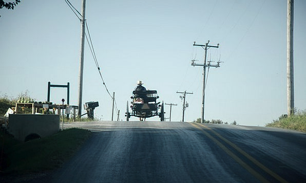 Amish Traffic Trainer Transportation Road Street C