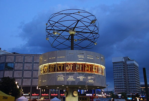 Berlin World Clock Alexanderplatz Clock Timepiece