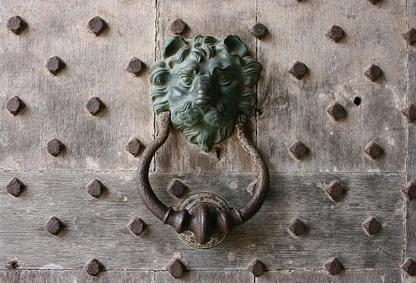 Knocker Knob Door Entrance Lion Leeds Castle