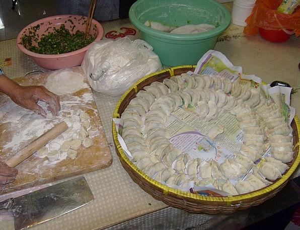 Dumpling Drink Food Preparing Making Chinese Dough