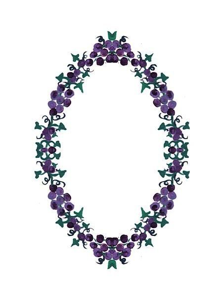 Grapes Craft Industry Wreath Garland Ivy Collage B