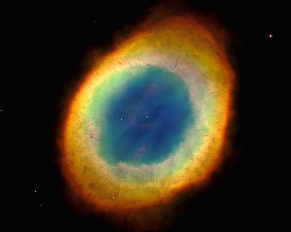 M57 Constellation Leier Ring Nebula Night Sky Colo