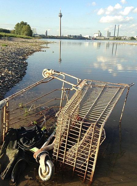 Pollution Contamination Flotsam Debris Rhine Shopp