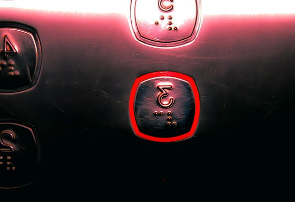 Elevator Silo Key Light Bright Button 3 Pay Metal