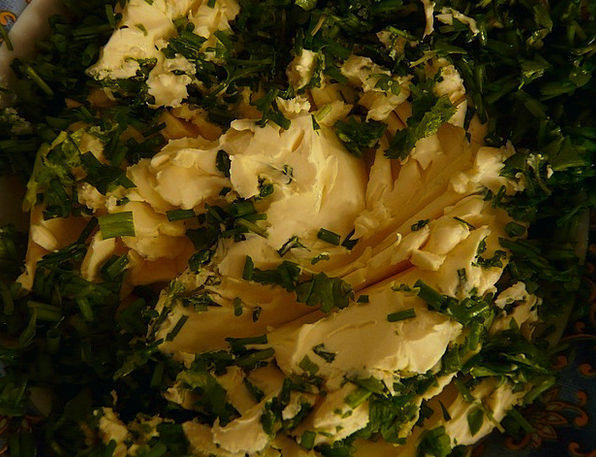 Herb Butter Lard Margarine Butter Fat Herbs Basils