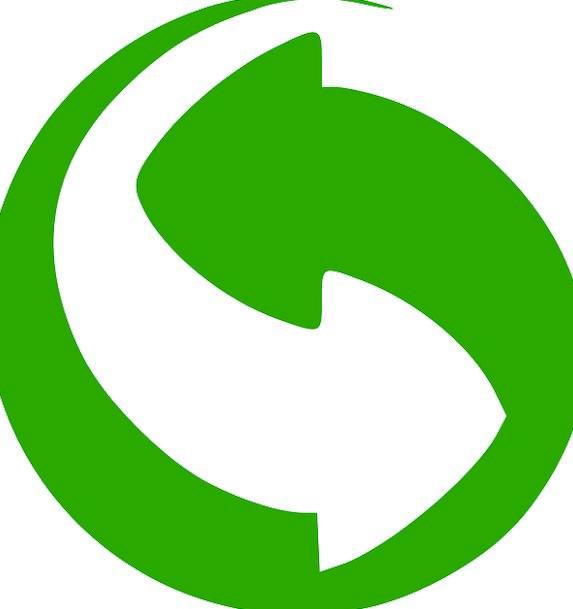 Green Dot Symbol Recycling Reprocessing Logo Packa