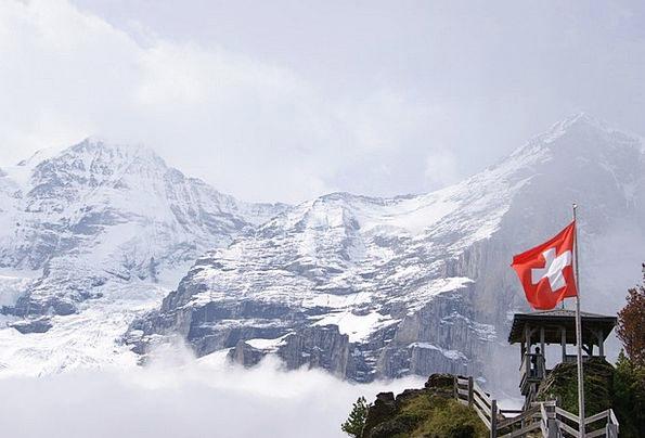 Jungfraujoch Crags Switzerland Mountains View Alpi