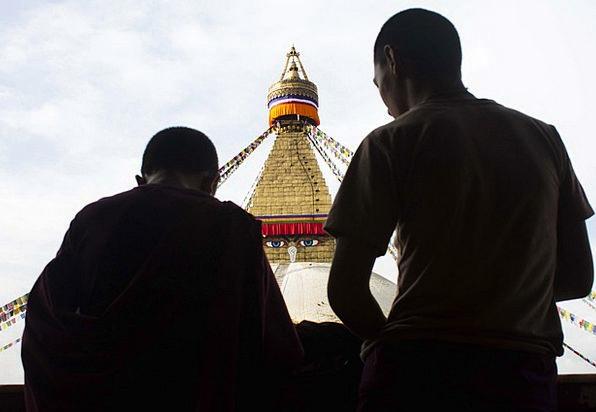Stupa Buddhism Buddha Monks Friars Monastery Shado