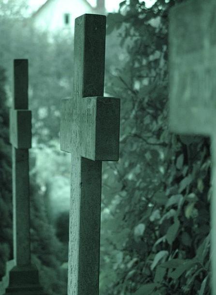 Cemetery Graveyard Demise Crosses Symbols Death Gr