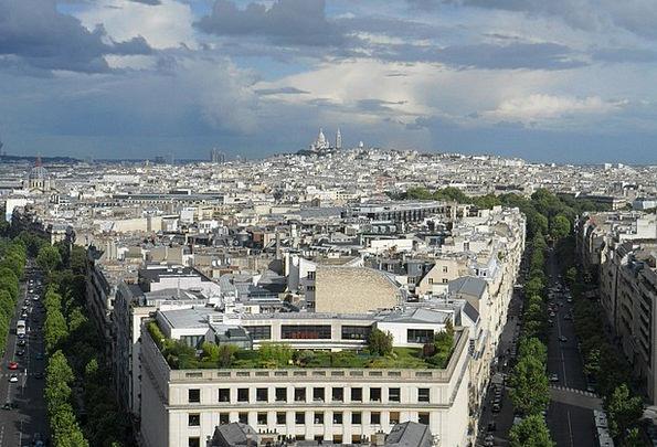 Paris Buildings Urban Architecture Panorama City M