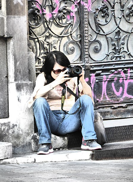 Photographer Paparazzo Fashion Lady Beauty Photogr