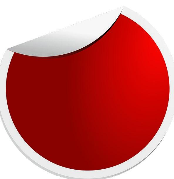 Stickers Labels Bloodshot Round Rotund Red Shapes