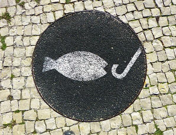 Fish Angle Mosaic Medley Fishhook Hook Peg Angel S