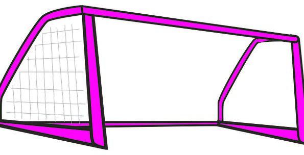 Goal Goalmouth Frame Edge Soccer Game Net Remainin