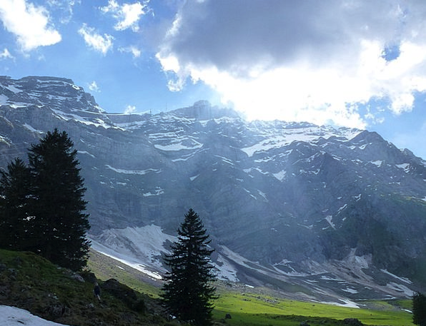 Alpstein Landscapes Crag Nature Switzerland Mounta