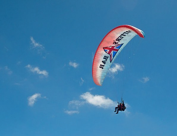 Paragliding Pilot Experimental Paraglider Floating