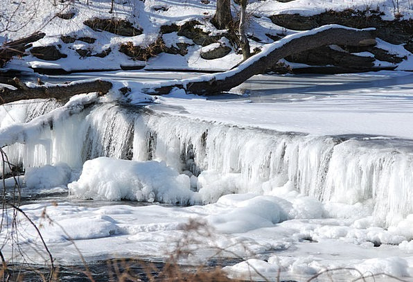 Waterfall Cascade Landscapes Ice-covered Nature Cr