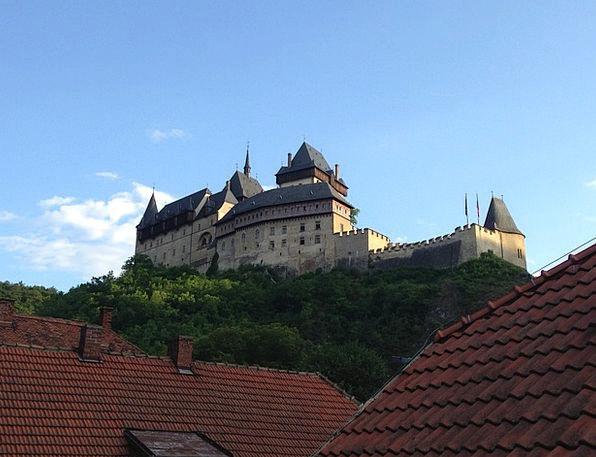Castle Fortress Roof Rooftop Karlstejn