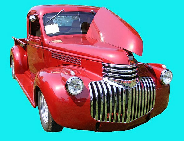 Chevrolet Traffic Carriage Transportation Red Bloo
