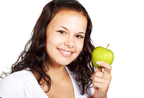 Apple Drink Food Healthy Fit Diet Juicy Eating Con