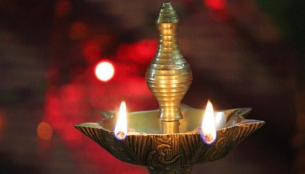 Lamp Uplighter Temple Shrine India Worship Diya Pr