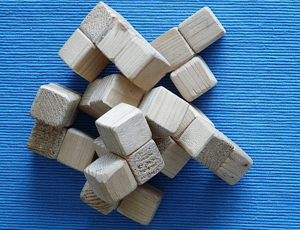 Puzzle Mystery Dice Wood Block Cube Toys Dolls Woo