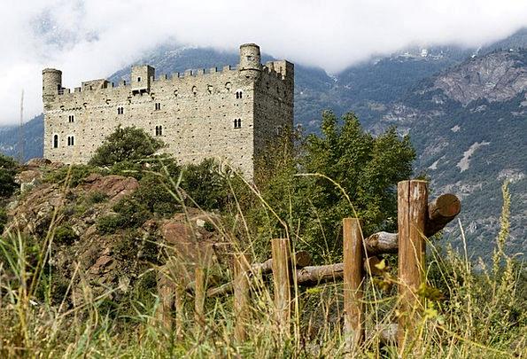 Castle Fortress Aosta Ussel