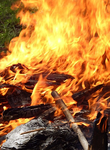 Fire Passion Bloodshot Wood Timber Red Burn Flames