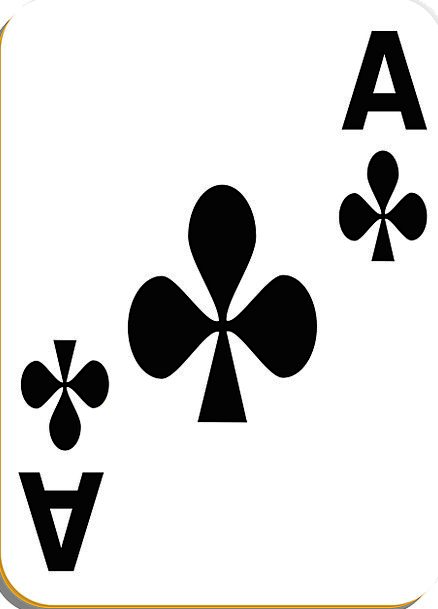 Playing Card Card First-rate Clubs Bats Ace Risk G