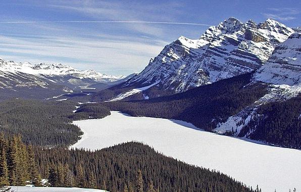 Peyto Landscapes Freshwater Nature Canadien Lake R
