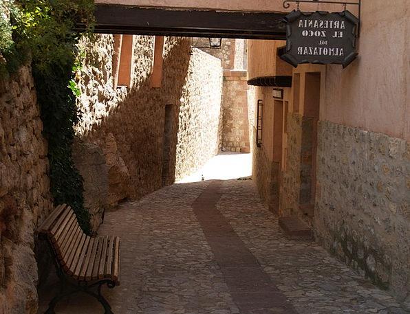 Albarracín Path Medieval Village Lane
