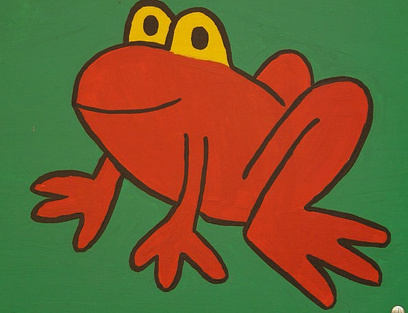 Frog Drawing Sketch Cartoon Character Funny Humoro