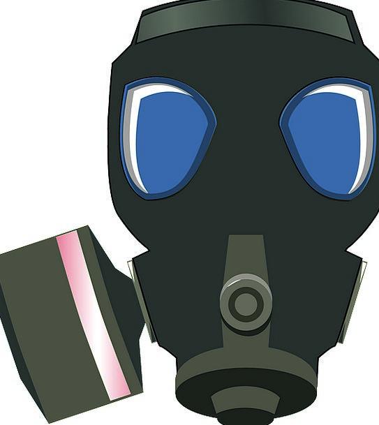Gas Mask Dark Protection Defense Black Chemical Sa