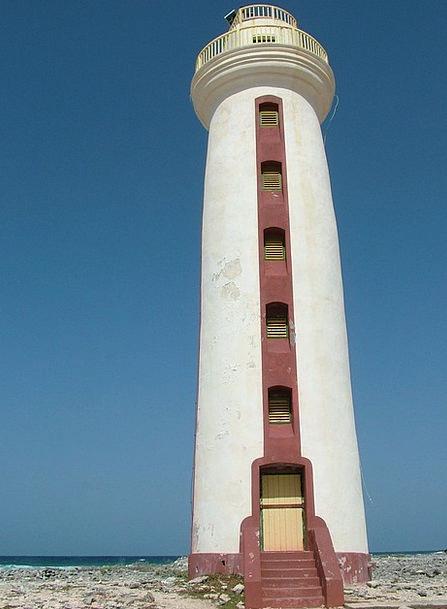 Lighthouse Tower Barbican Bonaire Sea Marine
