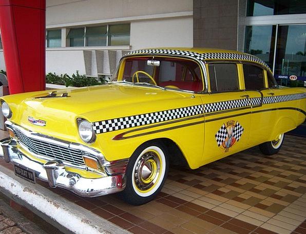 Yellow Cab Cab Traffic Transportation Yellow Cream