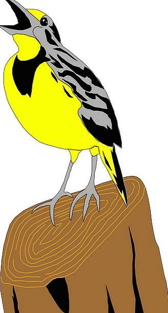 Meadowlark Fowl Lark Game Bird Wings Annexes Free
