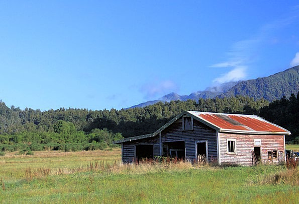 Old Barn Set Rural Country Scenery Empty Countrysi