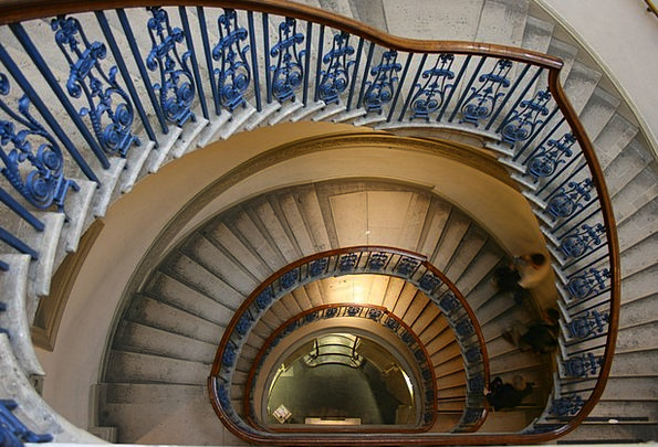 Staircase Stairway Twisting Somerset House Spiral