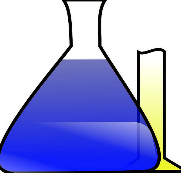 Chemistry Interaction Substances Erlenmeyer Flask