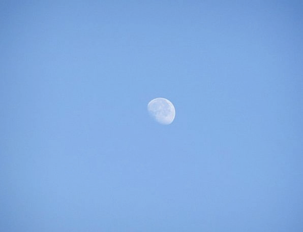 Moon Romanticize Azure Sky Blue Tranquil Moonlight