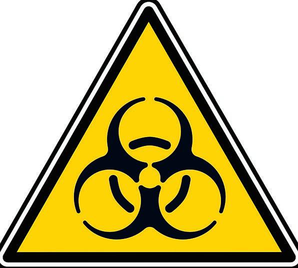 Biohazard Alert Attentive Sign Virus Symbol Contam