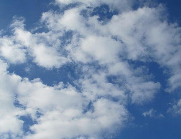 Clouds Vapors Blue Cumulus Sky Summer Straw-hat