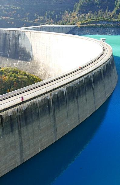 Reservoir Tank Landscapes Nature Dam Barrier Kops