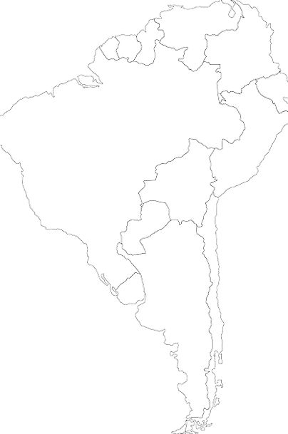 South Map Chart America Peru Political Party-polit