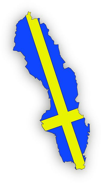 Sweden Chart Geography Topography Map Swedish Free