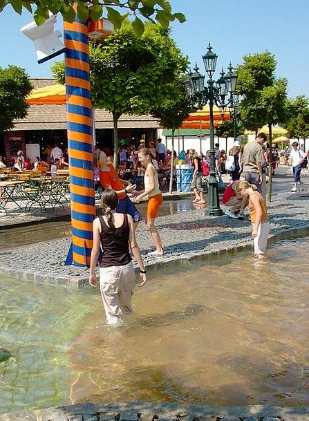 Wet Rainy Amusing Water Aquatic Fun Colorful Colum