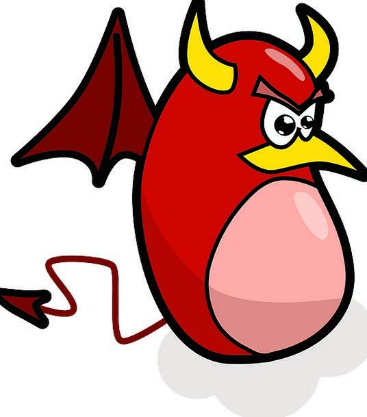 Devil Fiend Annexes Red Bloodshot Wings Horns Sire