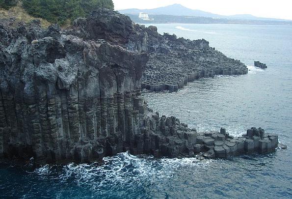 Korea Landscapes Nature Sea Marine Jeju Blue Azure